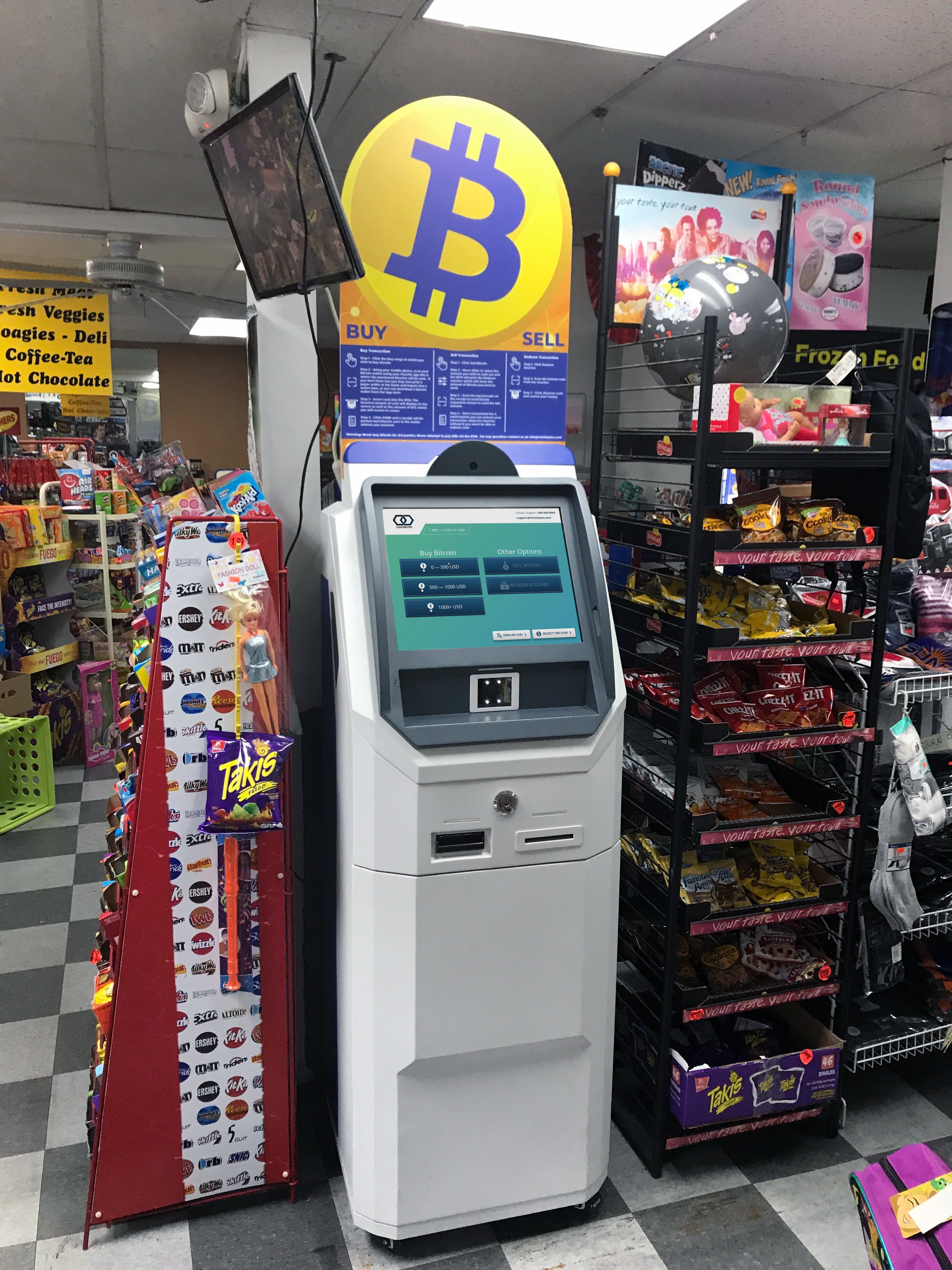 Bitcoin ATM in Easton PA lets you sell bitcoin or buy bitcoin for cash at Easton by Hippo bitcoin ATM manufactured by chainbytes