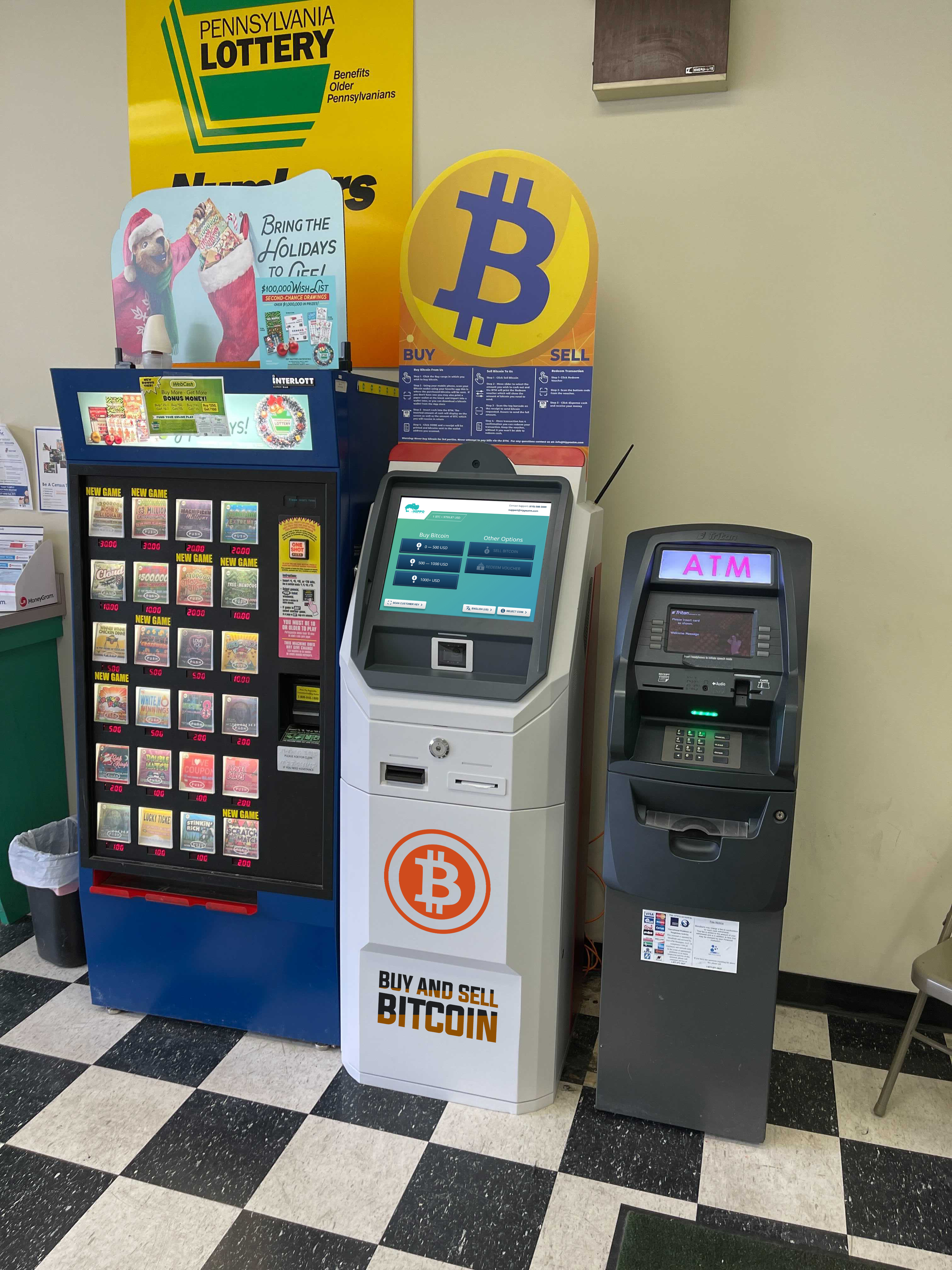Bitcoin ATM at United Check Cashing address: 1226 Liberty St, Allentown, PA 18102 Hippo Kiosks ATM