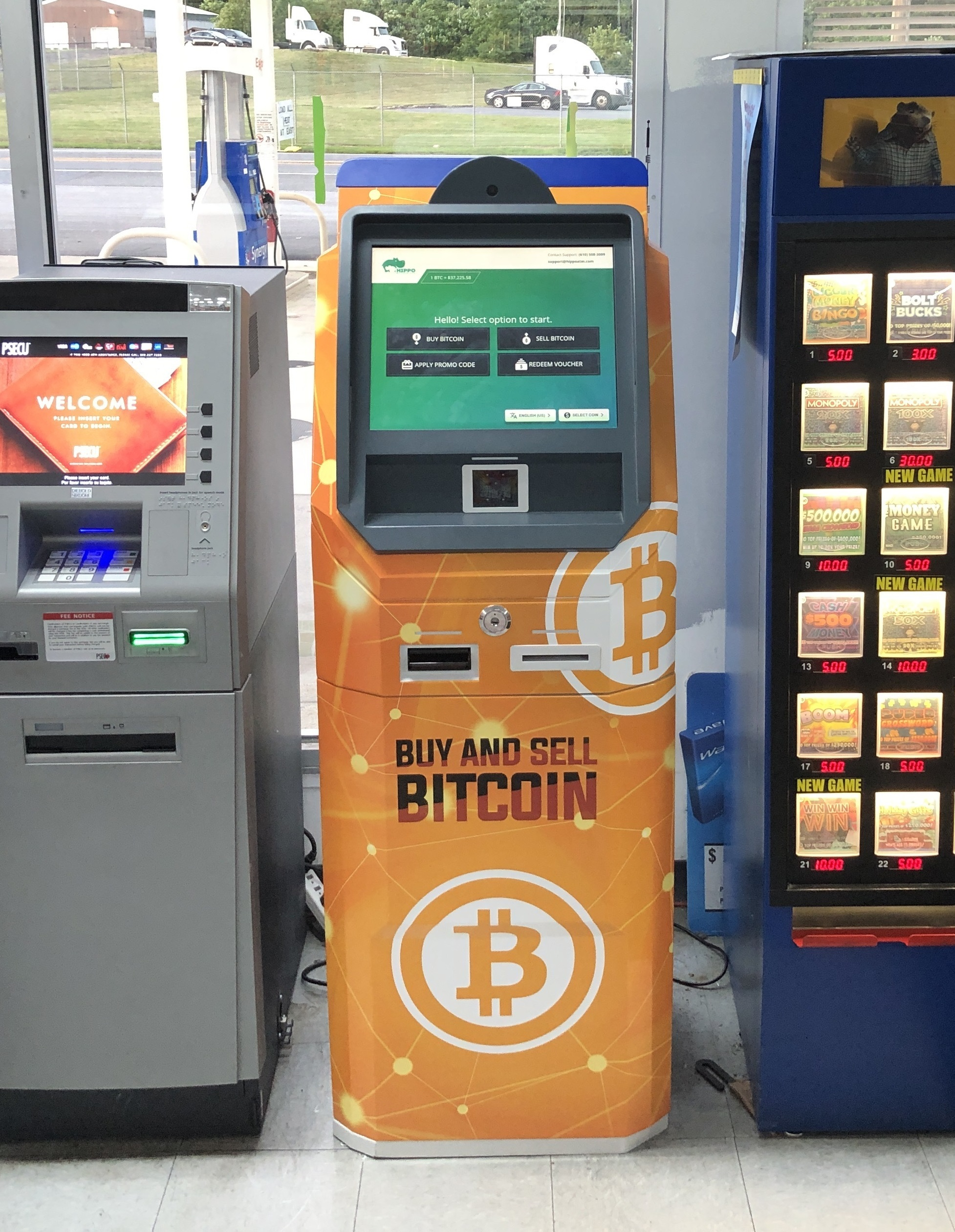 Bitcoin ATM Middletown PA Exxon by Hippo Kiosks produced by ChainBytes